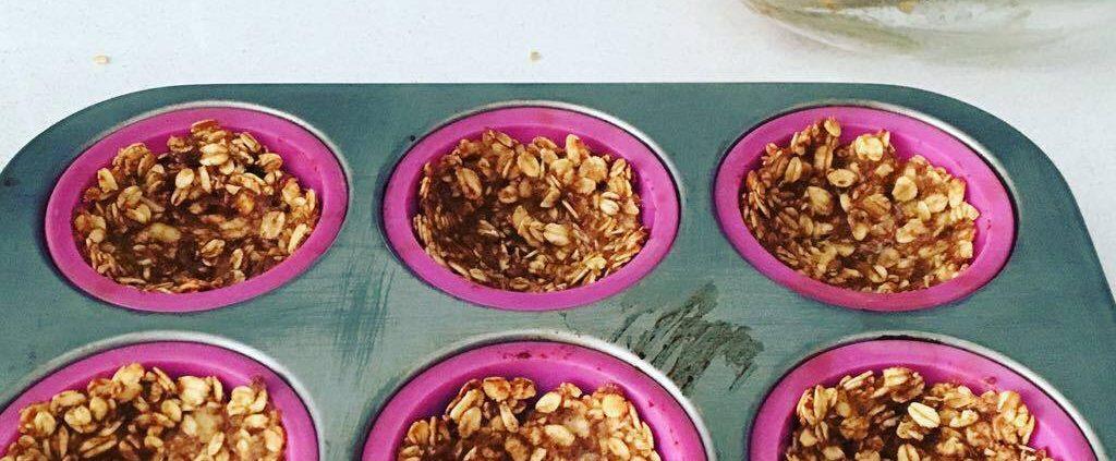 Tartelete de aveia e banana (snack saudável)